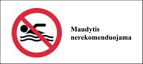 BALSIŲ IR NEVOČIŲ TVENKINIUOSE MAUDYTIS NEREKOMENDUOJAMA